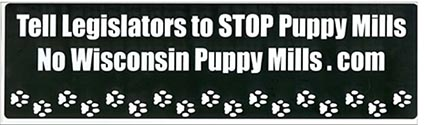 Tell Legislators to Stop Puppy Mills.