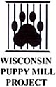 Paw Behind Bars logo of the WI Puppy Mill Project