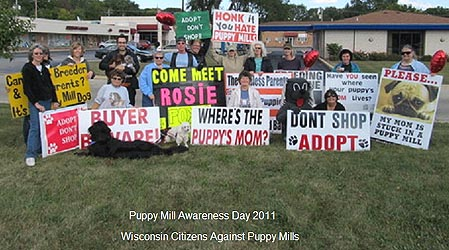 Puppy Mill Awareness Day Protest, 2011; Wisconsin Citizens Against Puppy Mills