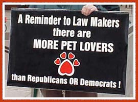 Let legislators know where you stand on humane laws.