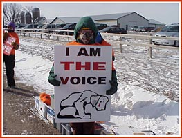 Thorp Dog Auction protest, 11 March 09: I Am the Voice
